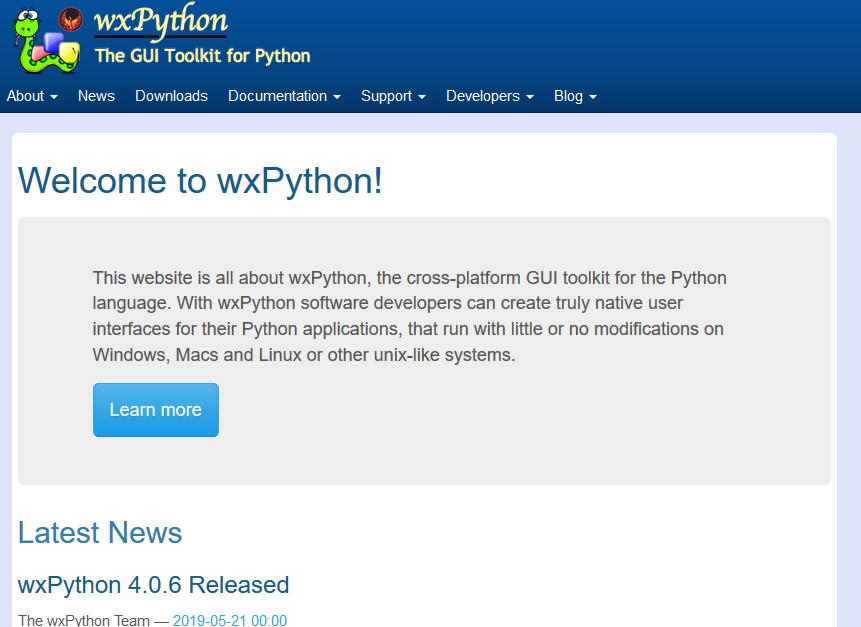 welcome-wxpython