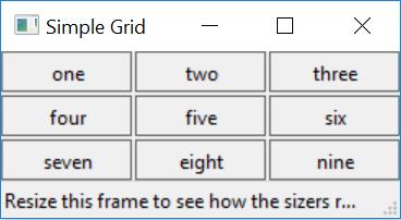 wx.gridsizer