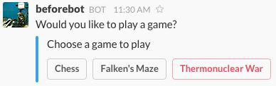 Un exemple d'interaction de chatbot