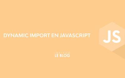 Dynamic import en JavaScript