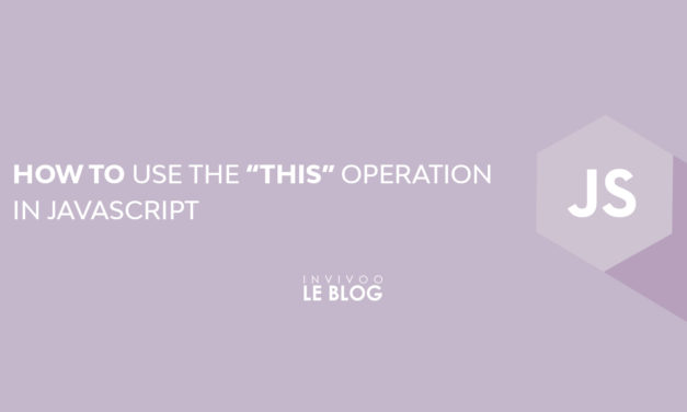 "How to use the ""THIS"" operation in Javascript"