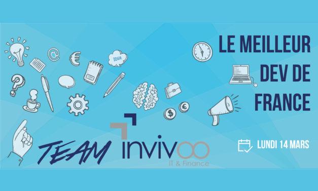 La Team Invivoo participera le 14 Mars au Concours du Meilleur Dev de France.